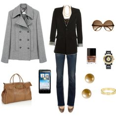This is a cute travel outfit.