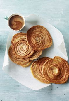 Paul Hollywood's arlettes from the Great British Bake Off. These light puff pastry biscuits are flavoured with a touch of cinnamon - wonderful served with a coffee or ice cream.