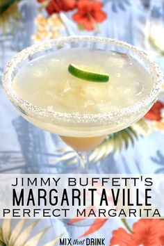 If you're wasting away in Margaritaville, the Jimmy Buffett Margaritaville Perfect Margarita is just the drink you need. This margarita recipe blends gold and white tequilas with triple sec, curacao and Rose's lime juice. Blended Margarita Recipe, Classic Margarita Recipe, Perfect Margarita, Margarita Recipes, Margaritaville Margarita Mix Recipe, On The Border Margarita Recipe, Jimmy Buffett Margaritaville, Skinny Margarita, Tequila Drinks