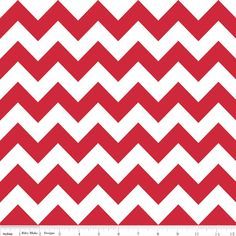 Chevron Red for Riley Blake, 1 yard. $9.80, via Etsy.