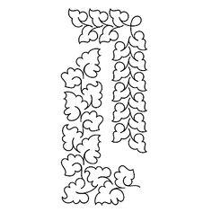 "Kudzu Overall and Border Stencil - 2.5"", 3.5"" UE-PR-KB1011"