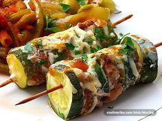 Kebab sa mljevenim meso i tikvicama,fino socno.