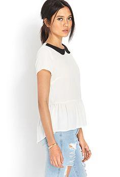 Sophisticate Collar Blouse | FOREVER21                      $18