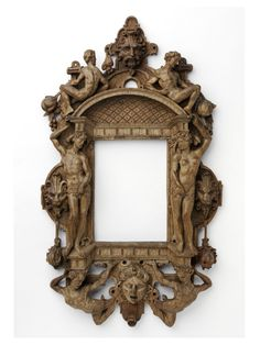 Photo of Mannerist frame, carved oak, originally painted and gilded, about 1550 – Belgium or the Netherlands. © Victoria and Albert Museum, London Mirrored Picture Frames, Antique Picture Frames, Antique Frames, Gothic Furniture, Furniture Design, Through The Looking Glass, Victoria And Albert Museum, Sculpture, Architectural Elements