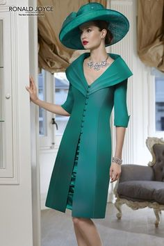 A fabulous formal daywear design by Veni Infantino from Ronald Joyce. Mother of the bride or groom outfit.