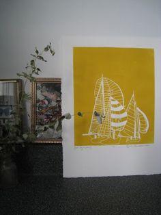 Sailboat print for home decor / Amber Perrodin.