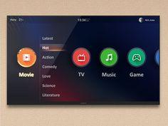 Dribbble - Smart TV UI 2 by Kingyo