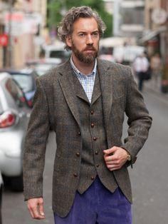 Tweedsakko 3-Knopf Classic, Harris Tweed