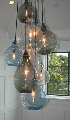 gekleurd glas lamp