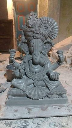 Ganesh Chaturthi Decoration, Happy Ganesh Chaturthi Images, Shri Ganesh Images, Ganesha Pictures, Clay Ganesha, Ganesha Art, Ganesha Drawing, Ganesha Painting, Eco Friendly Ganesha