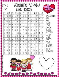 Valentine's Day Activity Word Search by Janeice Wright Valentines Day Activities, Holiday Activities, Valentine Day Crafts, Classroom Activities, Valentine Theme, Valentines Word Search, Valentines Day Words, Japanese Language, Spanish Language