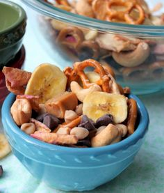 Doesn't this sound yummy? This Caramel Apple Trail Mix from Make and Takes is a perfect fall snack.