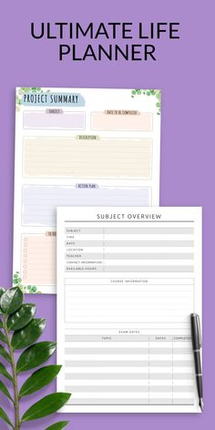Academic Planner College template for students which helps to control the main 4T's of your project: Tasks, Time, Team, and Tools. This printable is designed to enable ultimate productivity, motivation and organisation for school, college and university. It is available for downloading in PDF in A4/A5/US Letter/Half Letter sizes. #planner #college #academic #study #best Student Planner Printable, Academic Planner, Study Planner, Project Planner, Planner Template, Life Planner, College Planner, School Planner, Date Topics