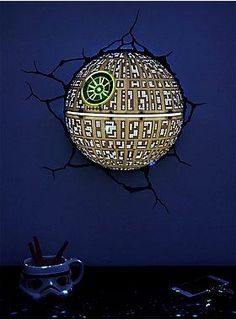 This Death Star is fully operational | Star Wars Death Star 3D Wall Light