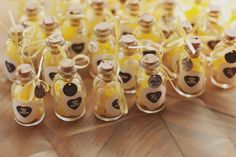 Darling party favors filled with Lemon Drops. I'm charmed by this idea