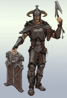 Reference: Harland's Steel Armor.  Harland's steel armor is very much like that depicted in this picture.  It is only the shoulders, chest, and waist plates. It does not include any fur.  It is very similar as it does not greatly limit movement and has a great deal of straps and leather pieces as this steel armor does.