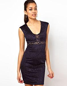 River Island Lace Bodycon Dress