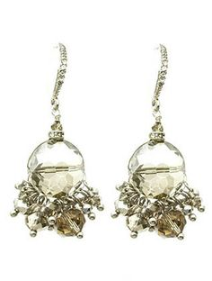 Crystal Ball Fringe Earrings from Helen's Jewels