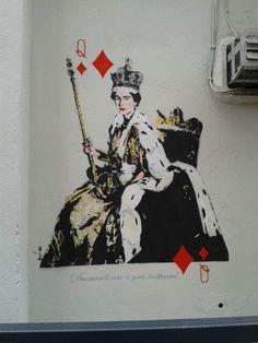 The Queen - Street art London http://stores.ebay.com/urbanartdesigns