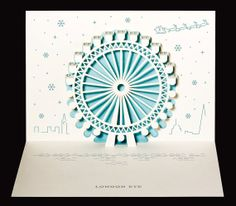 London Eye Christmas popup by PAPERTANGOLTD on Etsy, £5.99