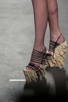 Zip Tie hand carved platforms by designer Winde Rienstra
