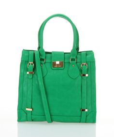 Green Buckle Tote | Daily deals for moms, babies and kids
