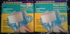 Lot of 2 (48 FILTERS) Teledyne Water Pik Pour Thru Water Filter (WR-1) #TeledyneWaterPik