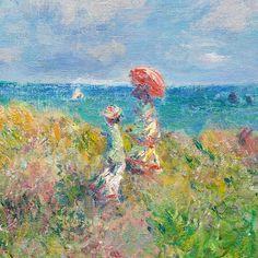 """lonequixote: """"Cliff Walk at Pourville (detail) by Claude Monet """""""