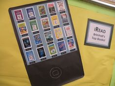 """another """"iPad"""" idea... tweak a bit and you could use with books... or maybe the word wall?"""