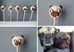 Pug Cake Pops ~ As silly as this sounds, I sooo want to have these at my wedding reception on behalf of my sweet Bella!  <3