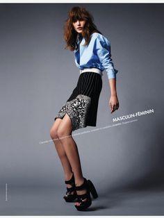 Catherine McNeil by Jean-Baptiste Mondino for Elle France March 2015 - Iceberg
