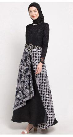 Dress Brukat, Batik Dress, Diy Dress, Batik Kebaya, Islamic Fashion, Muslim Fashion, Hijab Fashion, Fashion Dresses, Elegant Dresses