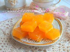 Суфлейные кубики из тыквы и лимонного желе