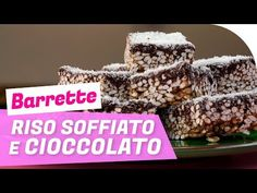 Barrette di riso soffiato, cocco e cioccolato, per una pausa gustosa. Ingredienti per 25 barrette. Tempo di preparazione 20 minuti + raffreddamento. Cheesecake Desserts, Chef, Biscotti, Mousse, Breakfast, Food, Sweets, Morning Coffee, Essen