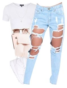 """these jeans "" by daisym0nste ❤ liked on Polyvore featuring Topshop, Witchery, NIKE, ASOS, women's clothing, women's fashion, women, female, woman and misses"