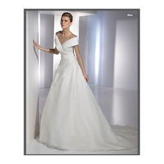 Organza Sexy V-neck with Ruched Waistilne and A line Skirt Top Seller New Wedding Dress WD-0069