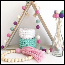 Free Shipping INS New Wool Balls String Kids Room Decoration Tent Decoration Photography props Hair ball hanging(China (Mainland))