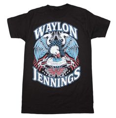 Waylon Jennings LONESOME black mens T-Shirt  FREE delivery! - 100% Cotton TEE #ManorMusicStorecom…