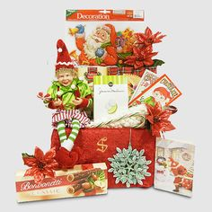 Baker's Elf with Sweet Treats - Christmas Gift from Santa - Send beautiful Santa packages for Christmas by Letters and Gifts from Santa. Christmas Tree Glitter, Christmas Pops, Christmas Treats, Christmas Cards, Santa Express, Santa's Nice List, Pop Up Window, Mini Marshmallows, Holiday Lights