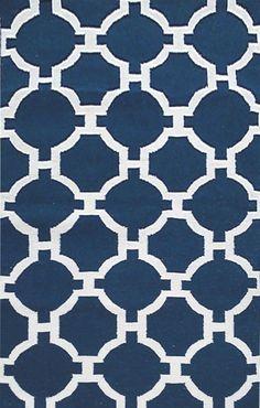 Assisi Navy Tile Indoor/Outdoor Area Rug