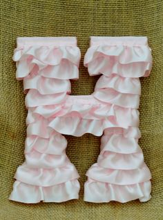 Original Ruffled Nursery Letters. I think I could make these myself! Cute!