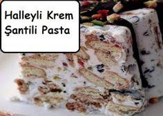Halleyli Krem Şantili Pasta Whipped Cream Cakes, Oatmeal, Food And Drink, Bread, Breakfast, Easy, Desserts, Pretty, Candy