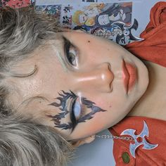 Make Up Art, Colorful Makeup, Watercolor Tattoo, Carnival, Tattoos, Makeup Ideas, Face, Personality, Finger Nails