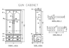 Plans for gun cabinets Free woodworking plans and projects instructions to build gun cabinets safe firearm and ammunition storage cases Also plans for building your own firearms For those individuals who are active in shooting sports and woodworking should consider these gun and rifle cabinets and cases for their next project Don t buy until you see how easy it is to build this gun cabinet for half the cost holds 12 scoped guns and easy to make Plans Free plans to build a gun cabinet See ...