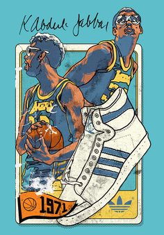 Adidas Basketball illustration by Peter O'Toole represented in the UK by Branch illustration #illustration