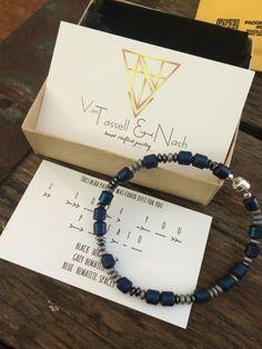 Mens coded bracelet