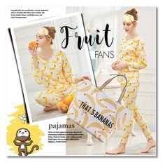 """""""Fruit fans"""" by svijetlana ❤ liked on Polyvore featuring pajamas, fruitprint and shein"""