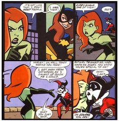 Poison ivy manipulating Harley. Their friendship is complicated