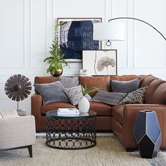 Create a space that's well designed and welcoming. Arhaus complimentary design services can help, but we'll let you take all the credit. Living Room Sectional, Rugs In Living Room, Living Room Furniture, Small Space Living, Living Spaces, Global Decor, Living Room Goals, Leather Sectional, Living Room Inspiration