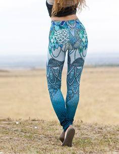 Sirène caleçons Leggings en coton bio vêtements de Yoga par Shovava